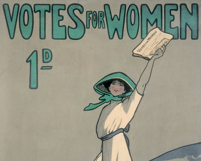 Part of advert for the Suffragette magazine.