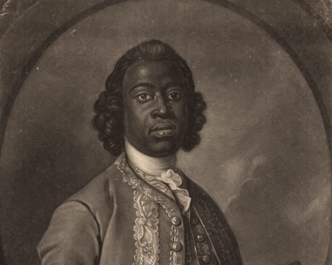 William Sessarakoo, prince & former slave. Copyright National Portrait Gallery.