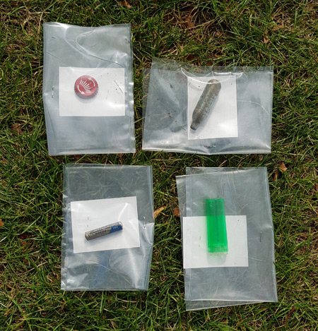 A selection of the objects found in Finsbury Park.
