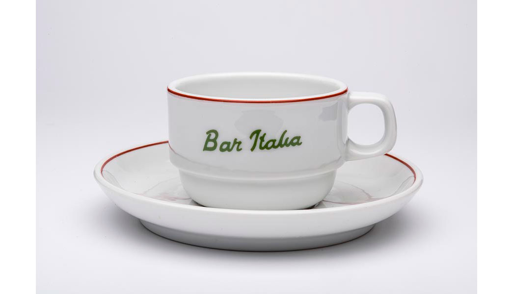 Bar Italia cup and saucer.