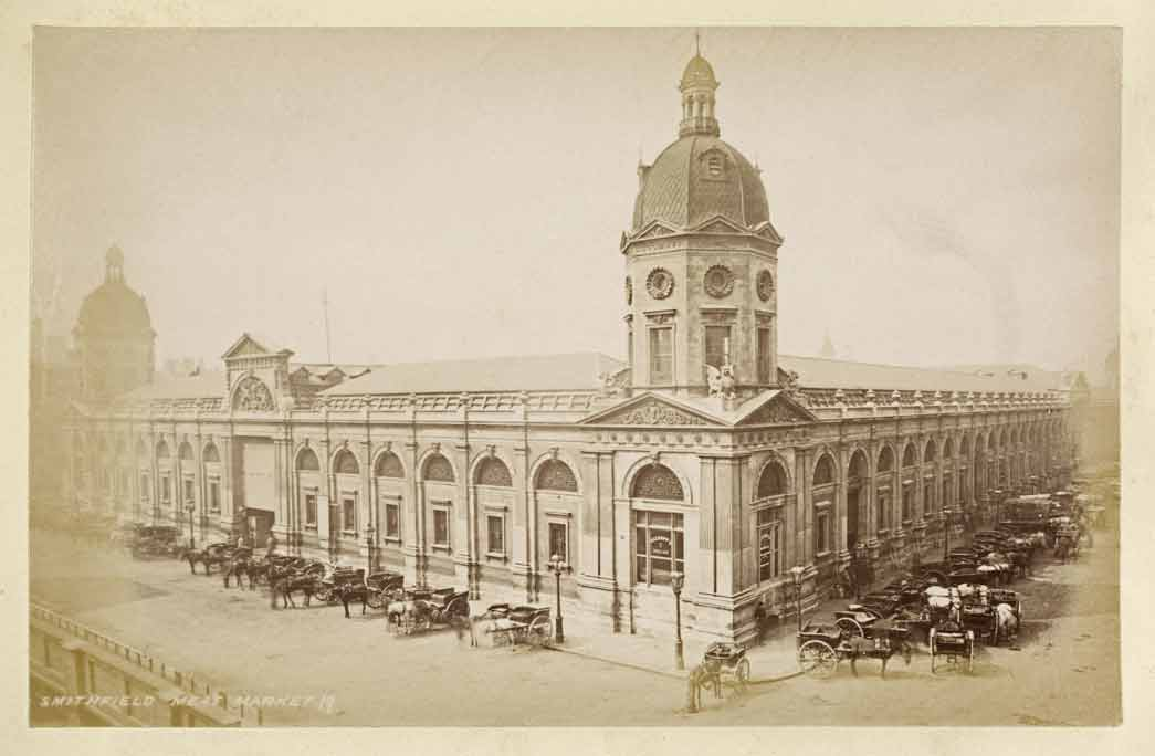 Smithfield meat market buildings.