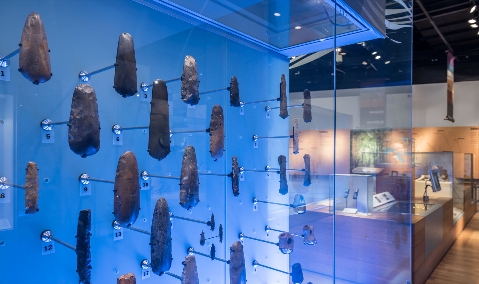 The River Thames is one of the most important archaeological sites in Britain. For thousands of years people placed precious objects, including the bodies of the dead, into its dark waters, perhaps because they believed it was a gateway to another world. The London before London river wall showcases many of the amazing treasures recovered from the Thames.