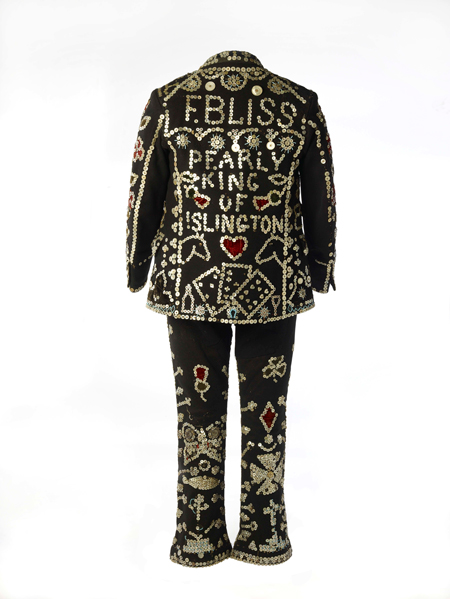 Pearly suit of the Pearly King of Islington, Fred Bliss.