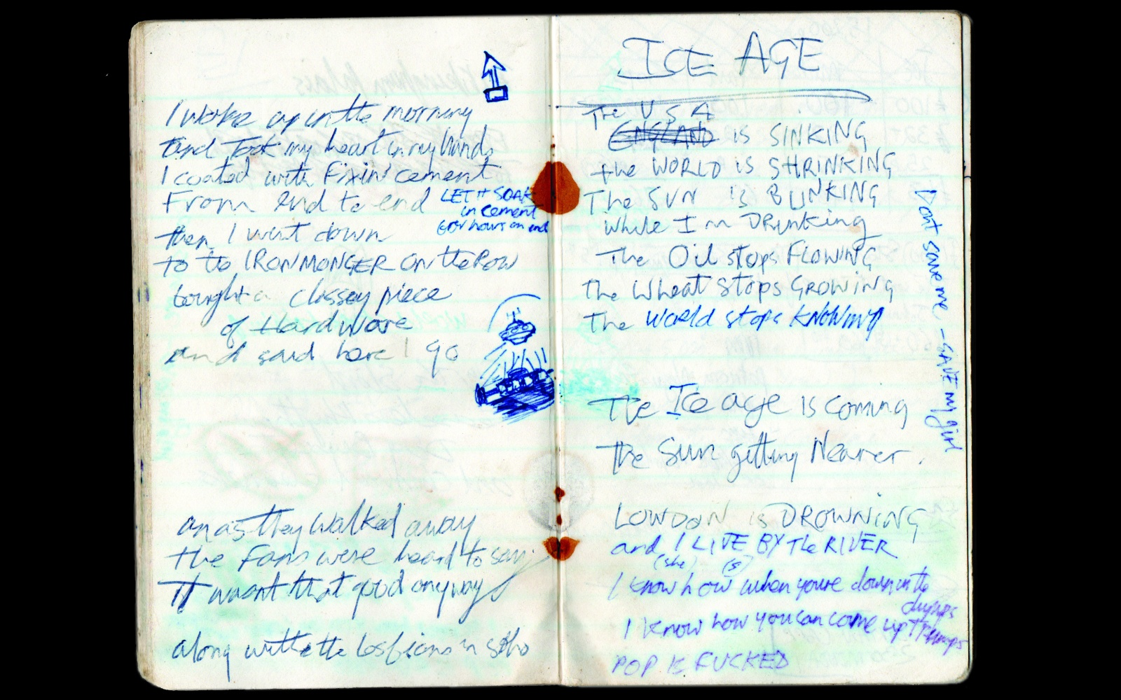 Joe Strummer's note book (c) Cabash Productions Cropped.jpg