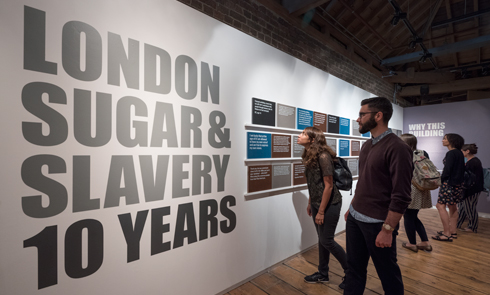 London Sugar and Slavery display marking 10 years since the gallery opened.