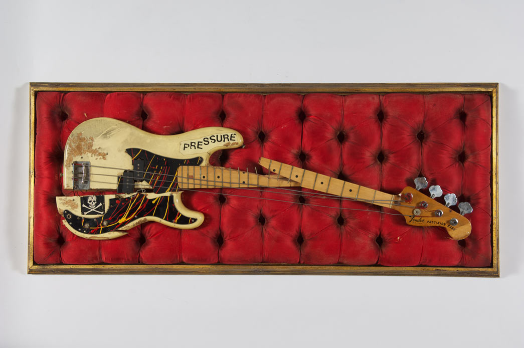 Simonon's Fender Precision Bass was damaged on stage at The Palladium in New York City on 21st September 1979, as Simonon smashed it on the floor in an act of spontaneous and complete frustration.