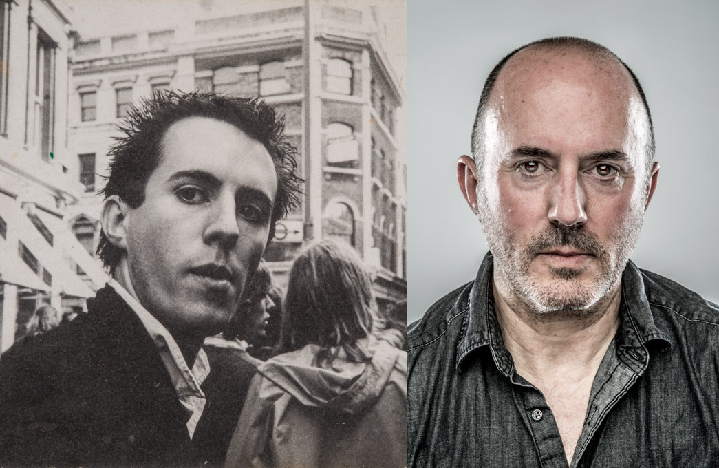 Punk Mick Hurd, photographed in 1976 and in 2016 as part of the Punks exhibition.