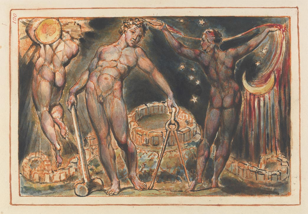 The emanation of the giant Albion, illustration by William Blake.