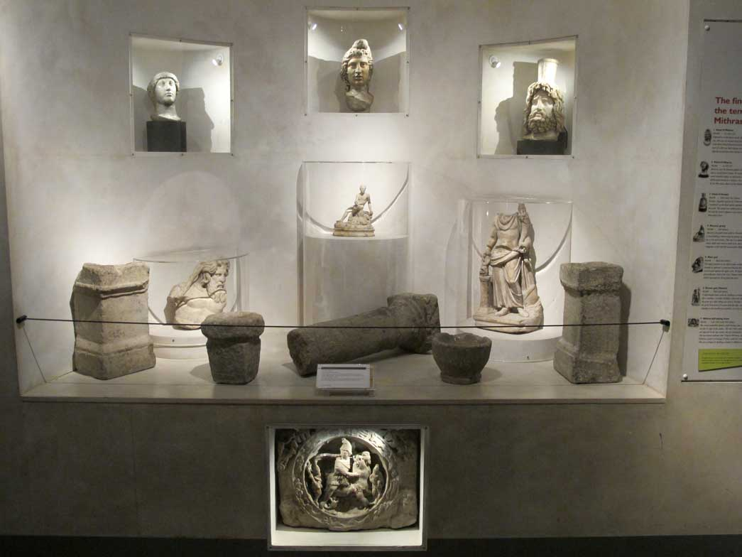 A display in the Roman Gallery, now redeveloped.