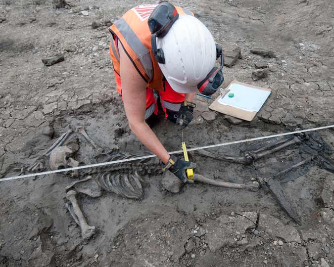 Man in the mud discovered during Tideway excavations.