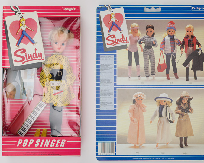 Clipped art of Sindy dolls