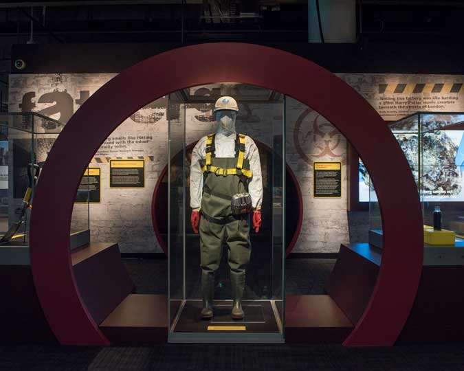 Inside the Fatberg! display