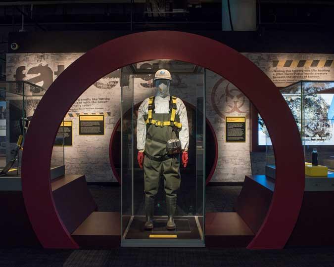 Inside the Fatberg! display