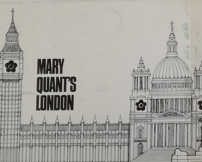 Mary Quant's London private view invitation. Museum of London Business Archive. Associated image