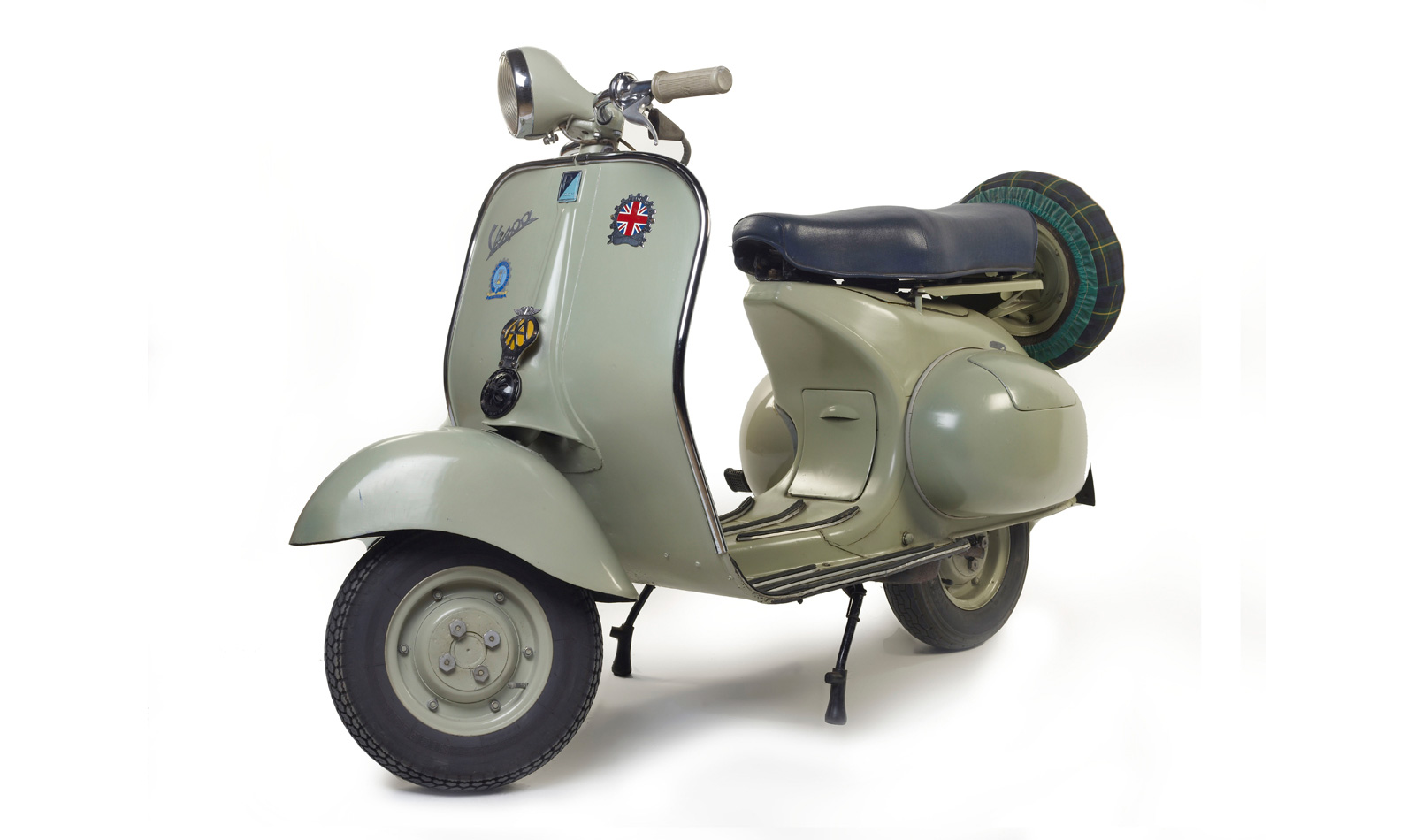 Vespa scooter on display at the Museum of London.