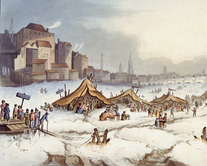 Extract from a painting of a frost fair, 1814