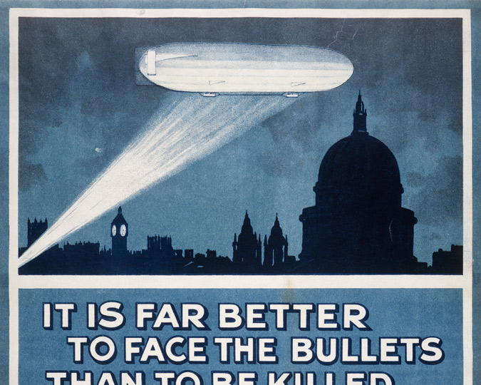 Top half of a WWI recruiting poster