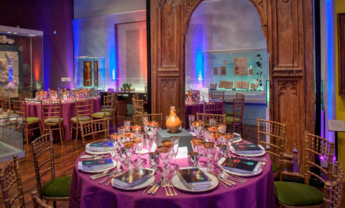 Medieval Gallery dinner setting for venue hire
