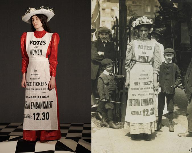 A suffragette dress inspiration.