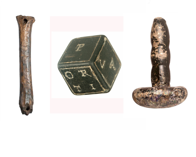 Three mystery objects from the Museum of London's Archaeological Archive.