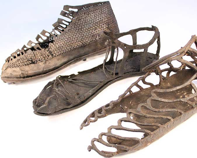 Roman leather shoes from the Museum of London: 20004, 984, 14126 - associated image for Discover
