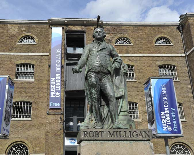 Statue of Robert Milligan at Docklands