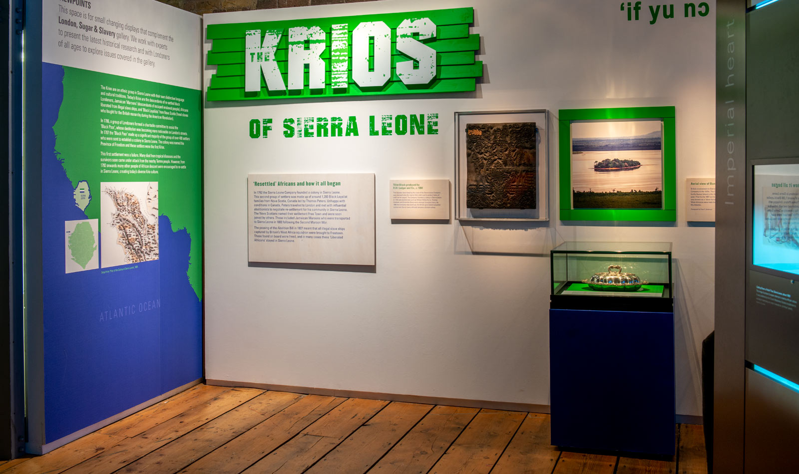 The entrance to the Krios display at the Museum of London Docklands.