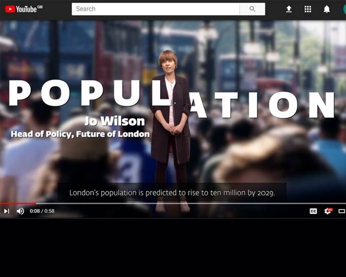 Jo Wilson, head of policy at Future London, speaks about London's population.