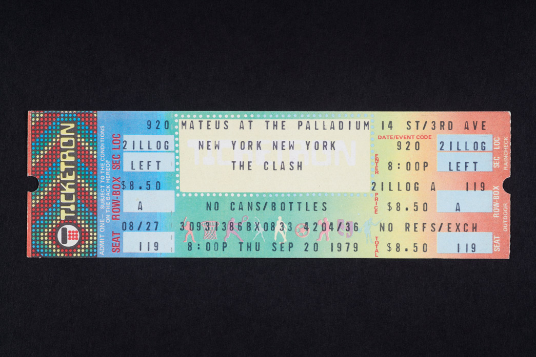 Ticket for the New York Palladium, 20 September 1979 Paul smashed his bass on stage at this show