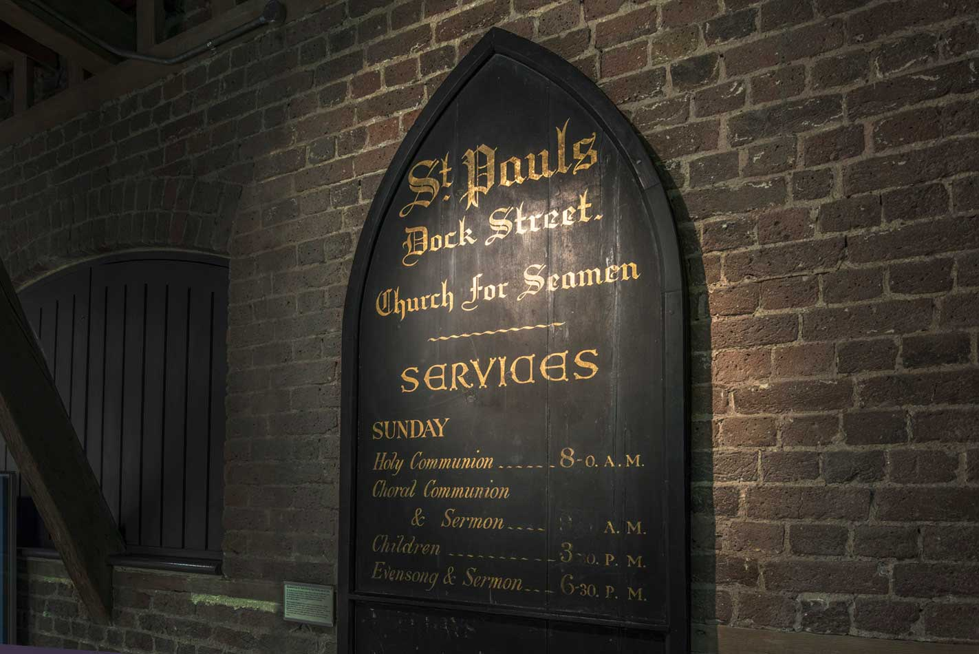 The sign of the St. Paul's Seamans' Church.