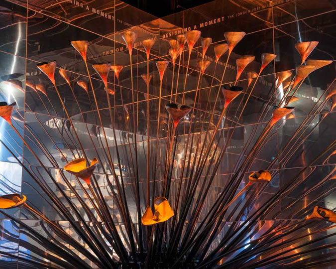 The London 2012 Olympic Cauldron.
