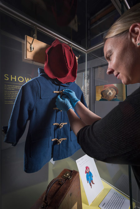 Paddington goes on display in the Museum of London's Show Space.