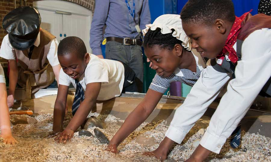 A Mudlark is someone who searches the river mud for treasures, and this inspires our specially-created, hands-on children's gallery.