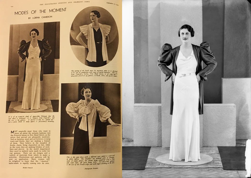 Bassano dress featured in Illustrated Sporting and Dramatic News