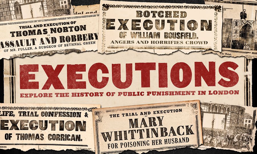 Collection of news headlines about public executions