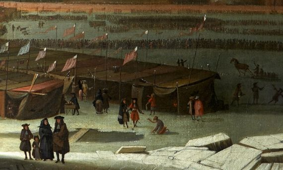 Abraham Hondius, A Frost Fair on the Thames at Temple Stairs, 1684, oil on canvas