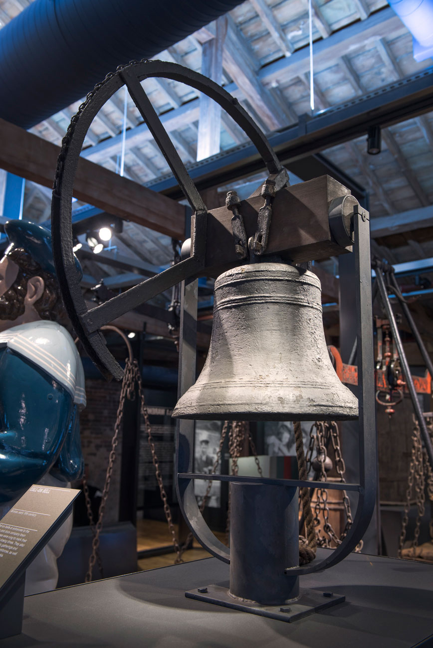 Time-bell used to summon dock-workers to warehouses in the Port of London.