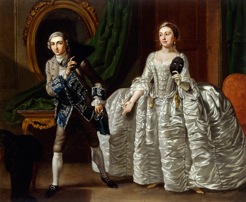 David Garrick (1717-79) and Hannah Pritchard (1711-68) in a Scene from 'The Suspicious Husband'. Oil on canvas.