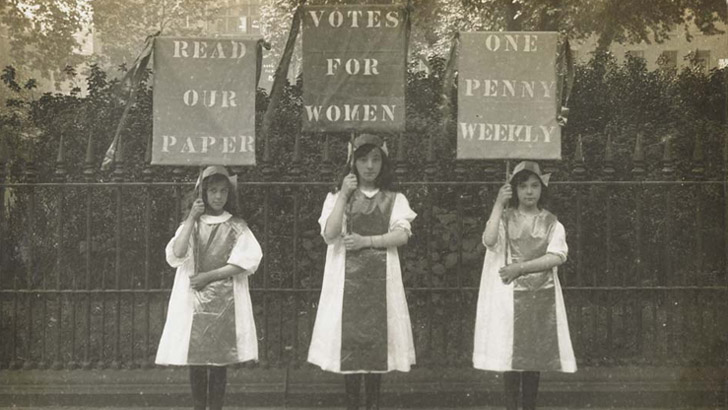 Suffragette poster parade ©  H Searjeant