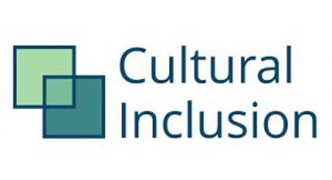 The words Cultural Inclusion Manifesto are beside two intersecting green squares.