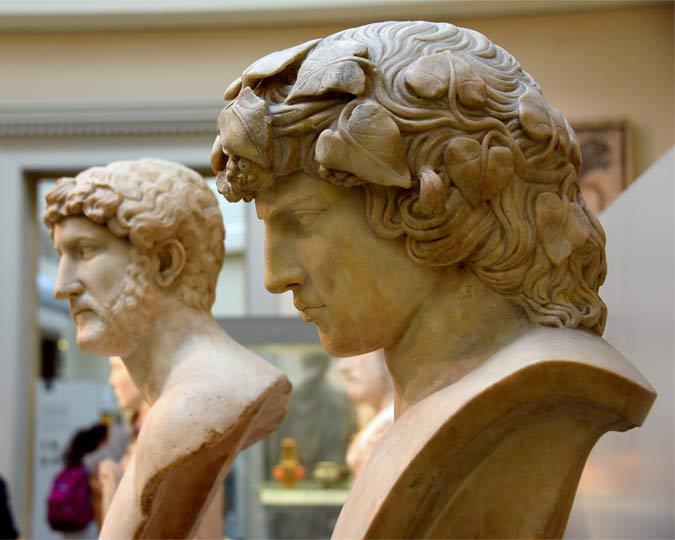 Roman Emperor Hadrian and his lover Antinous.
