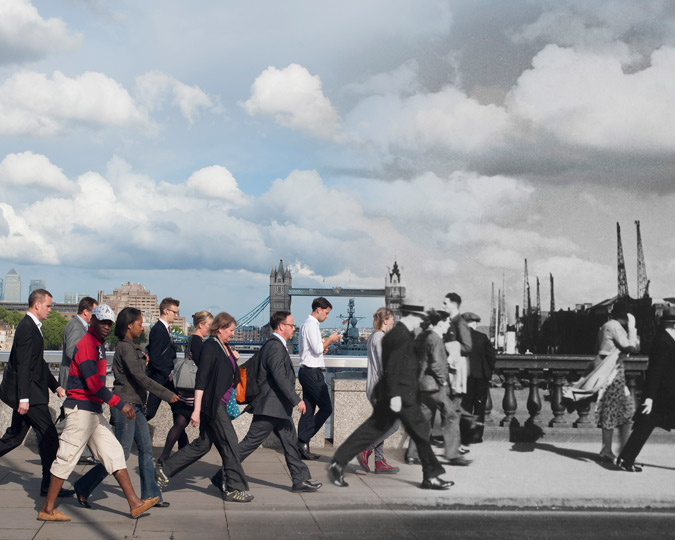 Composite image of London Bridge.