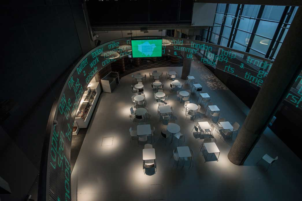 Sackler Cafe showing the Tekja Pulse installation.
