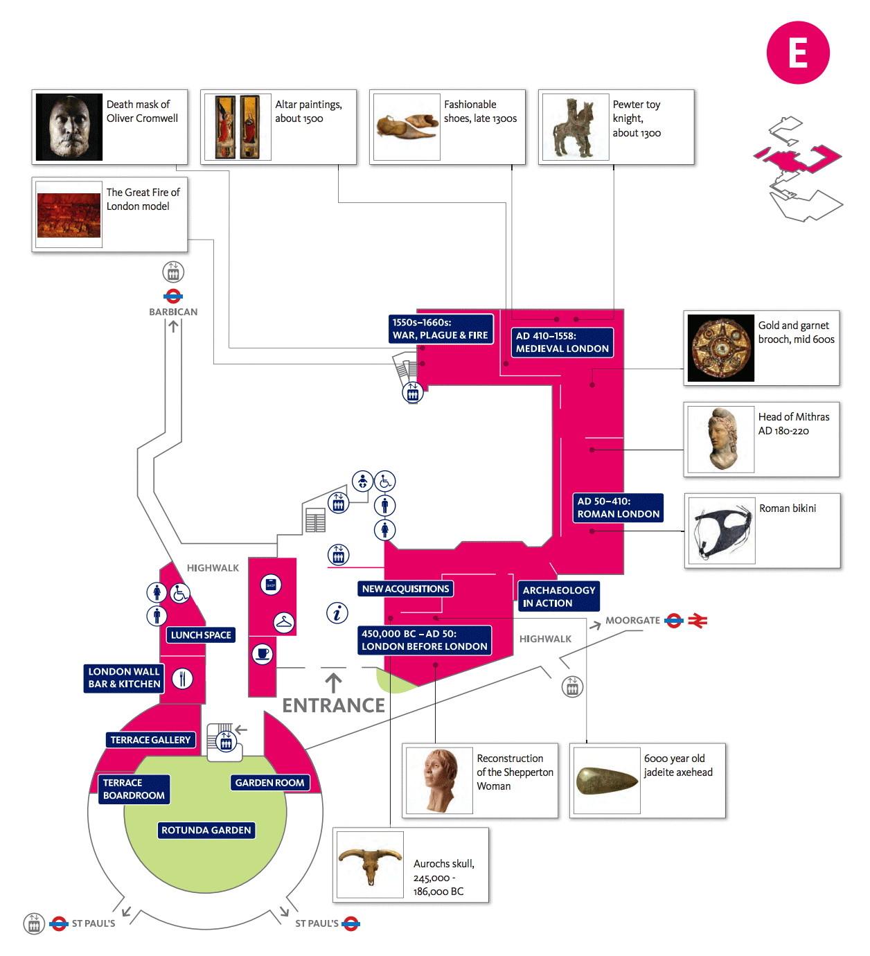 Wheelchair Accessible Floor Plans Plan Your Visit To The Museum Of London How To Get Here