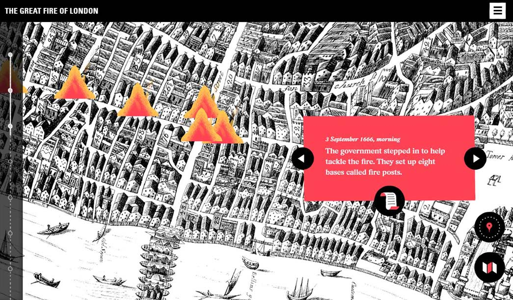 Great Fire Of London Map.A New Website For The Great Fire Of London