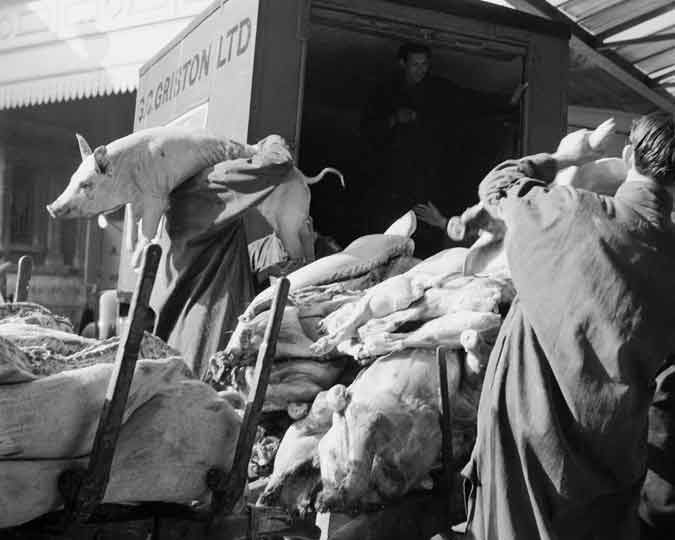Photograph of Smithfield meat market