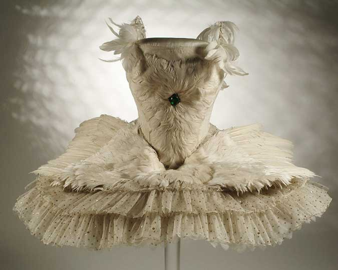 The costume worn by Anna Pavlova in her signature solo, The Dying Swan associated image