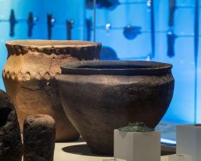 The person who made this bowl certainly left an impression. It was possible to take casts of the finger indentations around the neck to discover that the person who decorated it had slender fingers and long nails.