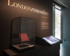 London Remembers commemoration section, in the City Gallery.