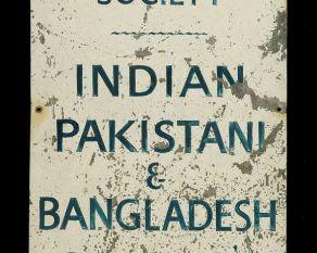 Metal sign for the Bangladeshi, Indian and Pakistani sailors